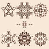 Brown Flower Pattern Pack