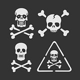 Set of vector symbols Skull