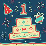 Vector Set of Birthday
