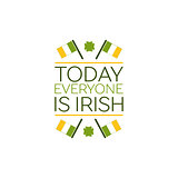 Saint Patricks Day Flat Style Typographical Element