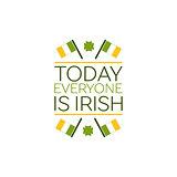 Saint Patricks Day Flat Style Typographical Element