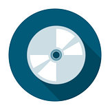 Compact disk icon flat