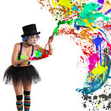 Painter clown