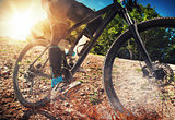 Mountain bike on ground