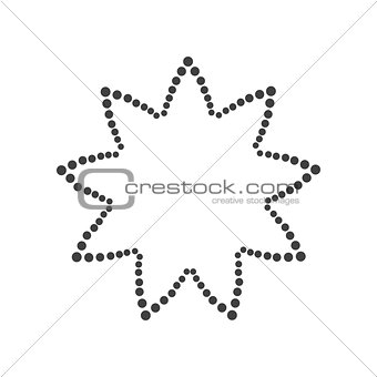 Abstract dotted shape.Vector design element