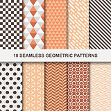 Vector geometric patterns - seamless.
