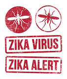Zika virus stamps