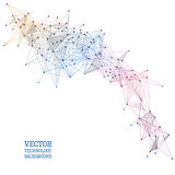 Network abstract polygonal background