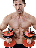 man weights exercises isolated
