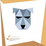 low poly animal icon. vector dog