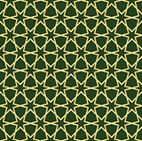 gold and green moroccan seamless