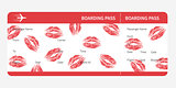 boarding pass lips