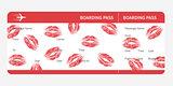 boarding pass lips
