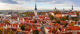 Aerial panorama of Old town, Tallinn, Estonia