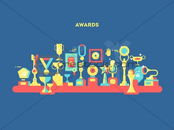 Awards set design flat
