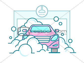 Car wash linear design