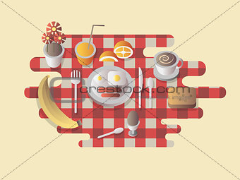 Breakfast design flat