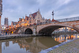 St. Michael Bridge in Ghent, Belgium
