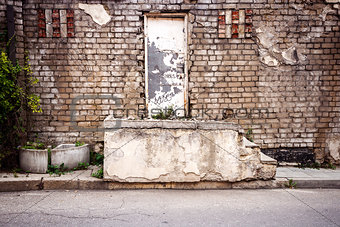 Old door and steps
