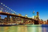 NIGHT NEW YORK Brooklyn Bridge  river NYC