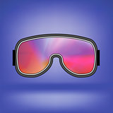 Ski Goggle with Colorful Glasses
