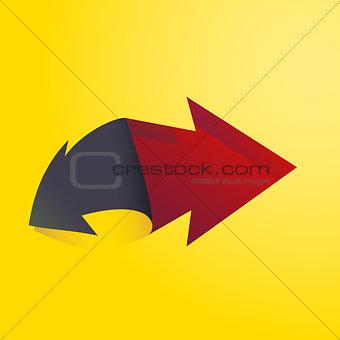 Arrow illustration 3d