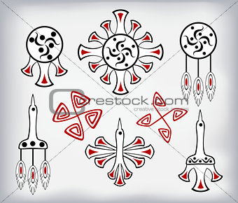 Classical patterns of indigenous American Indians. EPS10 vector illustration