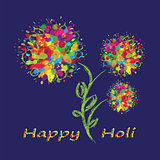 Happy Holi colourful background.