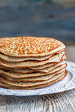 Whole grain wheat pancakes.