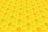 Honeycomb pattern. Hexagons texture.