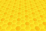Honeycomb pattern. Hexagons texture.