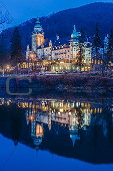 Palace Hotel at night