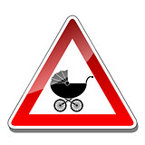 A warning sign baby