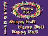 Abstract for Happy Holi colorful background.