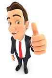 3d businessman positive pose