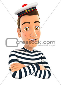 3d seaman with arms crossed