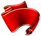 Swirl red ribbon