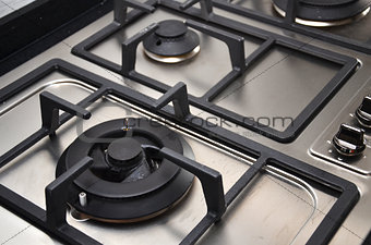 Kitchen gas stove in the kitchen
