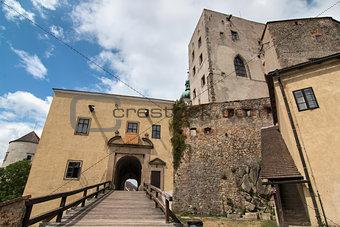 Old Gothic castle Buchlov in Czech republic