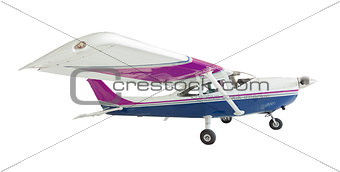 Cessna 172 Single Propeller Airplane On White
