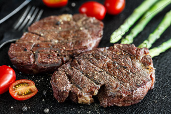 Grilled beef steak
