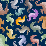 Seahorses in the style boho