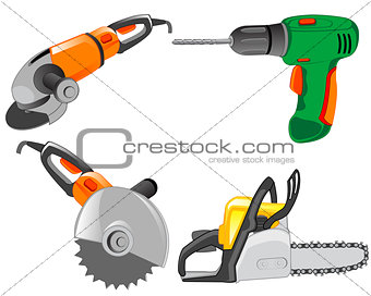 Tools electric for work on house