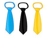 Three ties on white