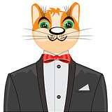 Redhead cat in suit
