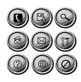 Grey circular buttons for web