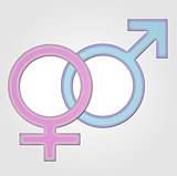 Gender symbol- girl and boy