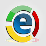 E commerce colorful logo