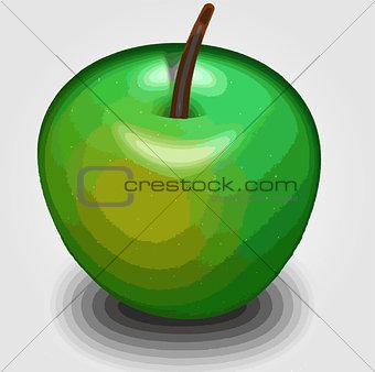 Green apple 3d rendering
