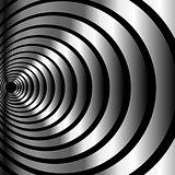 High tech metallic ring background- optical illusion